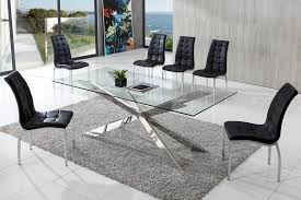 glass contemporary dining tables and chairs dining room elegant contemporary glass dining tables