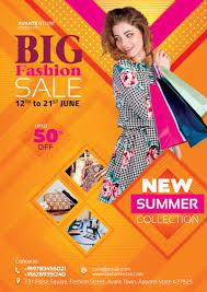 Fashion Designer Advertisement Fashion Sale Flyer Social Media Free Psd Template
