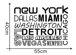 new york vinyl wall sticker quote city names decal poster wallpaper art living room home decor adesivo parede vinilo pegatina in wall stickers from home  on city names wall art with new york vinyl wall sticker quote city names decal poster wallpaper