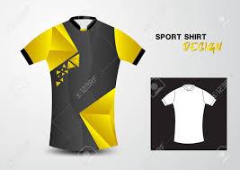 Yellow And Black T Shirt Designs Yellow And Black Sport Shirt Design Polygon Illustration Sport