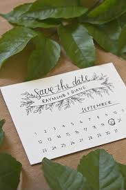 Print Save The Date Cards Pen And Ink Style Mini Calendar Save The Date Cards That You Can