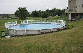 above ground pool decks. Understanding And Applying Above Ground Pool Deck Plans : Decks On Hillside