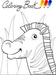 coloring book zebra stock ilration ilration of 19009601