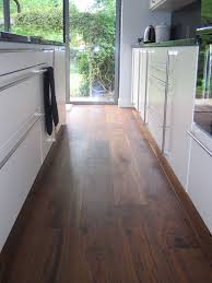 Walnut Kitchen Floor Oiled Walnut In A Kitchen