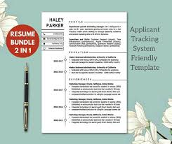Ats Friendly Resume Best Modern ATS Friendly Resume Templates Resume Template Etsy