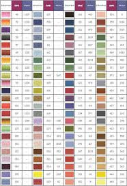 Valdani Color Chart Punctual Anchor Yarn Color Chart 2019