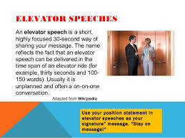 Elevator Pitch Examples For Students Elevator Speech Examples For Teachers Under Fontanacountryinn Com