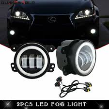 1999 Mazda Miata Fog Light Replacement Details About For Jeep Drl Led Fog Lamps Bumper White Halo Ring Lights 1 Pair