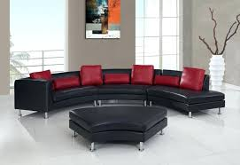 curved couch with recliners sectional