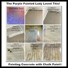 the purple painted lady chalk paint on concrete suite serendipity 2