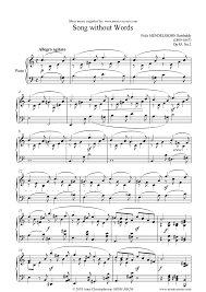 Op 46 No 1 Song Without Words Sheet Music Notes By Felix