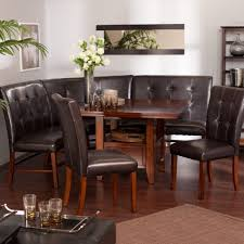 round dining table with banquette seating booth bench room how to dining room with post