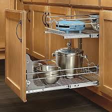pull out wire baskets kitchen cupboards entertaining rev a shelf 2 tier wire baskets