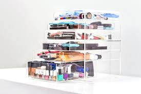 acrylic makeup organizer with drawers clear cube 5 from etsy large uk