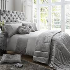 expand countess silver duvet set and curtains