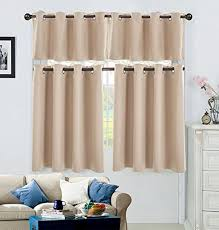 Solid Kitchen Curtains