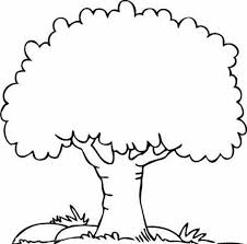 Small Picture Coloring Page Of Tree Coloring Pages Draw A Tree nebulosabarcom