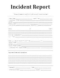 Incident Report Form Template Word Incident Reporting Requirement