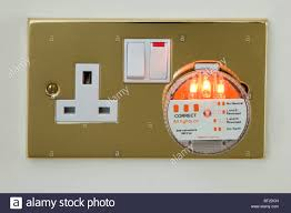 All 3 Lights Lit On Outlet Tester Uk Socket Stock Photos Uk Socket Stock Images Alamy