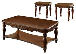 end tables set cherry brown pack