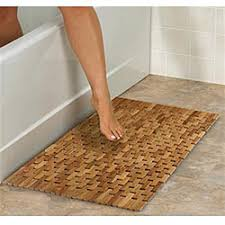 overstock the classic woven design and durable materials of this flexible teak shower mat e57