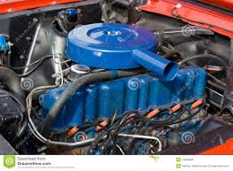 1966 Ford Mustang 6 Cylinder Engine 200 Royalty Free Stock Photos ...
