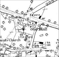 Keyham hall 1885 os map