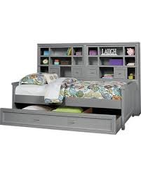 Great Deals on Cottage Colors Gray 5 Pc Twin Bookcase Wall Bed