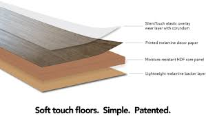 Laminate flooring & furniture panel manufacturers can now replace  traditional melamine overlay with an elastic SilentTouch treated film.