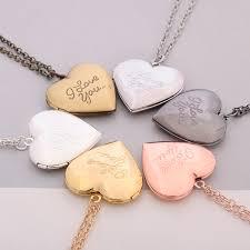 i love you diy love heart secret message locket necklace pendant