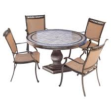 round outdoor dining sets. Fontana 5pc Round Metal Patio Dining Set - Top Table Tan Hanover Round Outdoor Dining Sets D