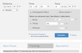 Altitude Conversion Chart For Running Running Calculator Run S M A R T