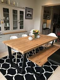 3 john lewis calia dining table and bench