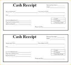 Receipt For Money Received Template Large Size Of Sample
