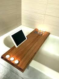 rustic clawfoot tub bathroom tub bed bath and beyond table rustic bathtub tray poplar wood with
