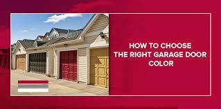how to choose a garage door color