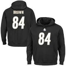 Sweatshirts Fleece com Hoodies Pullovers Antonio Official Nflshop Steelers Brown Pittsburgh