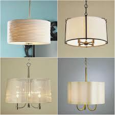 free sheer lamp shade double drum pendant light fixture lovely