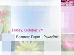 powerpoint presentation research paper notes FAMU Online