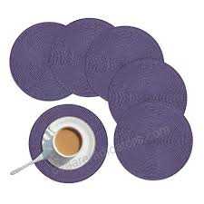 homcomoda round placemats round placemats for kitchen table pp woven heat insulation round table mats set