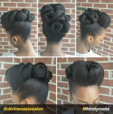 twisted up pompadour updo natural hairstyle