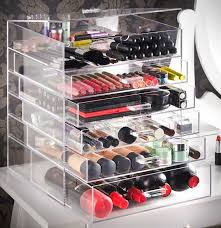 the upper partment es with hinged flip top lid leave open for display or keep closed offers a stylish and functional way to keep cosmetics neat
