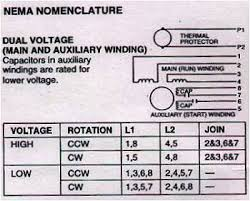 electric motor connections 3 phase 1 phase electric motors dual voltage 8 leads