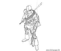 Small Picture DEATHSTROKE Coloring Pages Free Printable