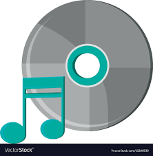 Cd Design Music Isolated Music Note And Cd Design
