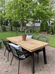 how to re wooden outdoor furniture