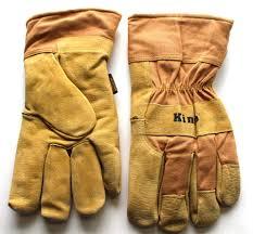 Kinco 1958 Lined Split Pigskin Leather Palm Work Glove Brown Safety Cuff