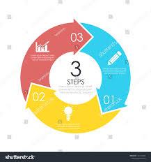 Circle Website Design Vector Circle Chart Infographic Template Arrow Stock Vector