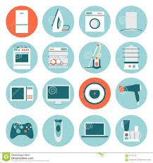 Google Flat Design Icons Set Modern Flat Design Icons Of Home Appliances Stock Vector