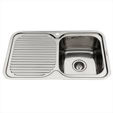 Image Wayfair Lavello Sinks Everhard 780mm Nugleam Single Bowl Right Hand Kitchen Sink With Drainer